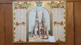 CALENDRIER ALMANACH DES POSTES 1936 DEPARTEMENT DE LA LOZERE - Calendars