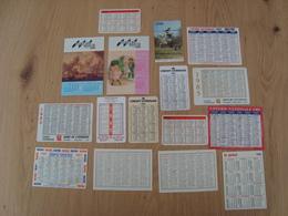 LOT DE 16 PETITS CALENDRIERS DES ANNEES 1980 LOTERIE NATIONALE CAISSE D'EPARGNE KINZIG RADIO BRO - Calendars