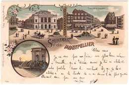 CPA HERAULT.MONTPELLIER.CARTE GRUSS.SOUVENIR DE MONTPELLIER - Montpellier