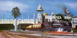 Malaysia - 1985 - Centenary Of Malayan Railways - Mint Souvenir Sheet - Malaysia (1964-...)