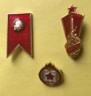 URSS BROCHE PIN'S - LOT DE 3 BROCHES ANNEES 1980 - Pin's