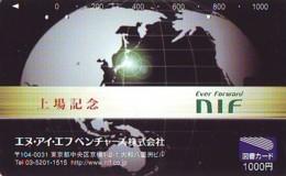 Carte Prépayée Japon  ESPACE (857)  GLOBE * SATELLITE * TERRESTRE * MAPPEMONDE * Telefonkarte Phonecard JAPAN * - Espace