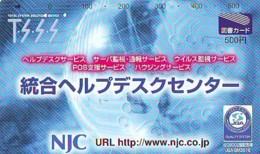 Carte Prépayée Japon  ESPACE (867)  GLOBE * SATELLITE * TERRESTRE * MAPPEMONDE * Telefonkarte Phonecard JAPAN * - Espace