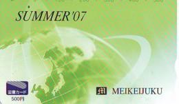 Carte Prépayée Japon  ESPACE (873)  GLOBE * SATELLITE * TERRESTRE * MAPPEMONDE * Telefonkarte Phonecard JAPAN * - Espace