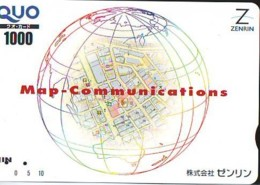 Carte Prépayée Japon  ESPACE (876)  GLOBE * SATELLITE * TERRESTRE * MAPPEMONDE * Telefonkarte Phonecard JAPAN * - Espace