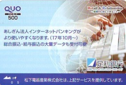 Carte Prépayée Japon  ESPACE (878)  GLOBE * SATELLITE * TERRESTRE * MAPPEMONDE * Telefonkarte Phonecard JAPAN * - Espace