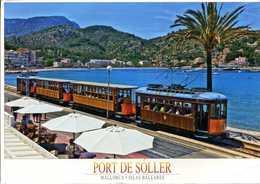CPM - Mallorca Le Port De Soller Et Le Tramway - Tramways