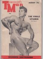"""Bulletin ( Revue ) """"Tomorrow's Man"""" Août 1955 , Bodybuilding ( Nombreuses Photos ) édité In U.S.A. - 1950-Now"""
