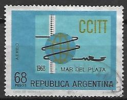 ARGENTINE    -   Aéro   -   1968 . Mar Del Plata  /  CCITT,  Oblitéré. - Poste Aérienne
