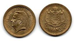 MONACO -- Pièce De 2 Francs LOUIS II -- Bronze-aluminium - Monaco