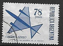 ARGENTINE    -   Aéro  -     78 Pesos  /  Avion Stylisé,  Oblitéré. - Poste Aérienne
