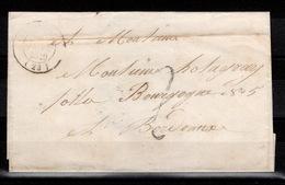 CAD Janvier 1849 (le 8 Janvier) Sur Lettre Non Affranchie Donc Taxée , Arrivée Le 9 Janvier - Marcophilie (Lettres)