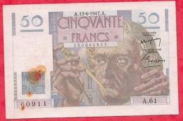 """50 Francs """"Les Verriers"""" Du 12/06/1947.A ---Série A.61 Dans L 'état - 1871-1952 Circulated During XXth"""