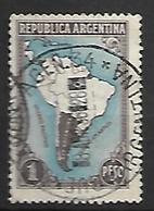 ARGENTINE    -   1937 .  Y&T N° 386 Oblitéré Cachet Rond Central - Argentine