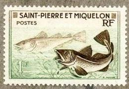 Morue (Poisson) - St Pierre Et Miquelon - 1957 - Neufs