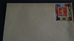 """Porte Timbre Des Alliés 14-18 Sur Enveloppe Avec Semeuse Fond Plein 10c Portant """"timbre Des Alliés"""" Sans Date Voir Scan - Other"""