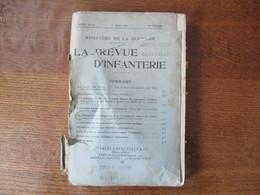 MINISTERE DE LA GUERRE LA REVUE D'INFANTERIE 1er MARS 1928 N°426 CARTES ,SOMMAIRE... - French
