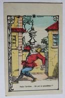 Rare Belle Chromo Facturette Caricature Artiste Clown Maison Mahé Guilbert Saint MaLo 3 Rue Porçon Barbinais - Other
