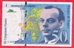 """50 Francs """"St Exupéry"""" 1994 --VG/TTB--n °Z 020000227 - 50 F 1992-1999 ''St Exupéry''"""