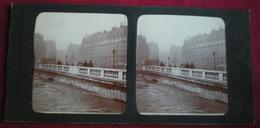 PHOTO STÉRÉOSCOPIQUE - Paris, Inondations 1910 Pont. - Photos Stéréoscopiques