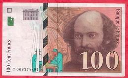 """100 Francs """"Cézanne"""" 1998 --VF/SUP--n °T 068378807 - 1992-2000 Dernière Gamme"""