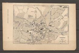 CARTE TOPOGRAPHIQUE 1920 VANNES MORBIHAN (56) MAISON D'ARRET HALLES AUX GRAINS - Topographische Kaarten