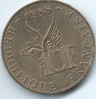 France - 1988 - 10 Francs - 100th Anniversary Of Roland Garros - KM965 - Francia