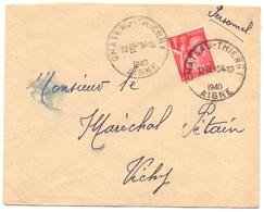 Iris Lettre Adressé Au Maréchal Petain Non Recommandé D Office De Chateau Thierry Aisne - Marcophilie (Lettres)