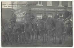 Région Ath - Ghislenghien : Grandes Manoeuvres De L'Armée Belge, Septembre 1909. Etat-Major 4è Brigade De Cavalerie - Ath