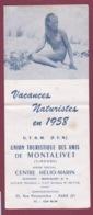 190519 - DEPLIANT TOURISTIQUE Vacances Naturistes 1958 UTAM MONTALIVET Gironde Centre Hélio Marin - NU NATURISME - Tourism Brochures