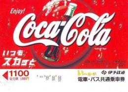 Carte Prépayée  Japon *  * COCA COLA  (2166)  *  JAPAN Phonecard *  PREPAID CARD - Publicité