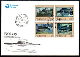 FAROE IS. 1990 Island Of Nolsoy On FDC.  Michel 207-10 - Faroe Islands