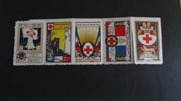 5 Vignettes De Guerre 14-18 Croix Rouge Union Des Femmes De France Neuves Voir Scan - Altri