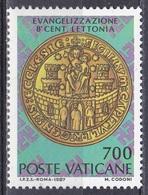Vatikan Vatican 1987 Religion Christentum Christianisierung Lettland Latvia Siege Seall Domkapitel Riga, Mi. 911 ** - Vatikan