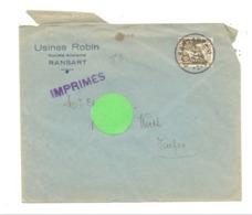 Enveloppe à Entête : Usines ROBIN à RANSART En 1935 (van) - Belgium