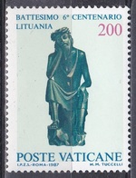 Vatikan Vatican 1987 Religion Christentum Christianisierung Litauen Lithuania Kunst Arts Skulpturen Christus, Mi. 913 ** - Ungebraucht