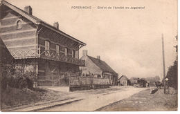 POPERINGHE Châlet De L'amitié En Jagershof Fieldpost Postally Stamped 1915 TRAM CENSOR 1505 CENSUUR  922/d5 - Poperinge