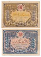 1914-1918 // C.D.C. // St DIE // 9 Octobre 1915 // 50 Centimes & Un Franc // Sans Filigrane - Cámara De Comercio