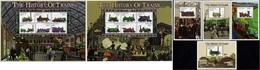 Tanzania - 1999 - The History Of Trains - 2 Mint Stamp Sheetlets + 4 Souvenir Sheets - Tanzania (1964-...)