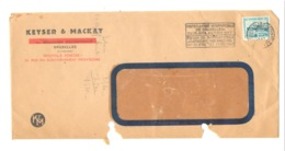 Enveloppe à Entête : KEYSER & MACKAY à BRUXELLES En 1947 (van) - Belgium