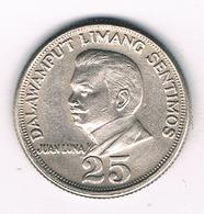 25 SENTIMOS 1967 FILIPPIJNEN /4176/ - Philippines