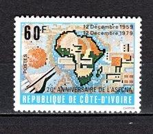 COTE D'IVOIRE N° 534  NEUF SANS CHARNIERE COTE 1.00€  ASECNA   VOIR DESCRIPTION - Ivory Coast (1960-...)