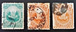 SOLEILS & ARMOIRIES 1884/86 - OBLITERES - YT 77/78 - El Salvador