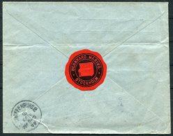 1922 Sweden Stockholm Registered Cover, Bernhard Maring Piano Advertising Label - Wilhelm Arnolds, Aschaffenburg Germany - Sweden