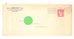 """Enveloppe à Entête : N.V. """" IMEXIN """" S.A. à BRUXELLES En 1950 (van) - 1950 - ..."""