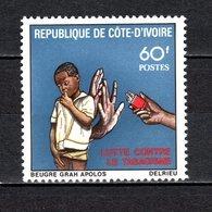COTE D'IVOIRE   N° 537  NEUF SANS CHARNIERE COTE  1.30€  JOURNEE DE LA SANTE - Ivory Coast (1960-...)