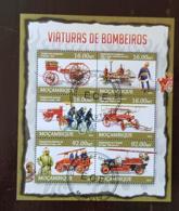 MOZAMBIQUE Pompiers, Pompier, Firemen, Bomberos. Feuillets 6 Valeurs Emis En 2013 Oblitéré, Used - Sapeurs-Pompiers