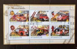 MOZAMBIQUE Pompiers, Pompier, Firemen, Bomberos. Feuillets 6 Valeurs Emis En 2009 Oblitéré, Used - Sapeurs-Pompiers
