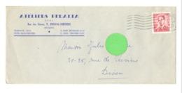 Enveloppe à Entête : Ateliers PERALTA SPRL. à ENSIVAL ( Verviers)en 1956 (van) - 1950 - ...