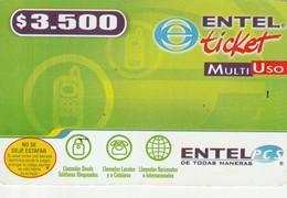 TARJETA TELEFONICA DE CHILE (PREPAGO) Multi Uso Entel PCS - 0894. 30-09-2005. CL-ENT-GRE-0002A. (302) - Chili